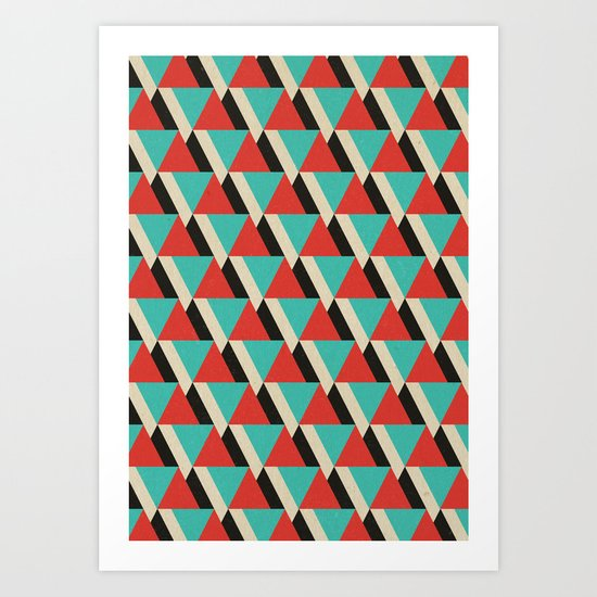 Retrospect, Triangle Duo, No. 04 Art Print