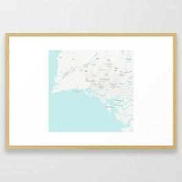 Minimalist Modern Map of Karachi, Pakistan 4 Framed Art Print