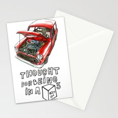 Mini Cooper Classic in Red Stationery Cards