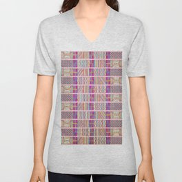 Seamless Colorful Geometric Pattern XXVII Unisex V-Neck