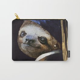 The Sloth with a Pearl Earring Carry-All Pouch