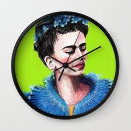 Frida Green Wall Clock