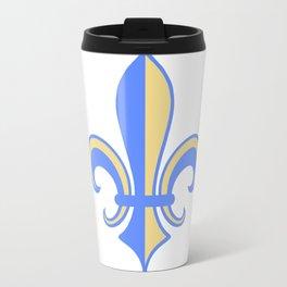 Two Tone Fleur-de-Lis Travel Mug