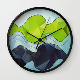 The Poly Landscape Wall Clock