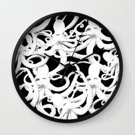 octopus nero Wall Clock