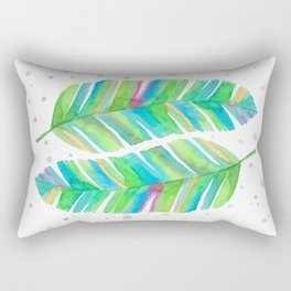 Abstract Tropical Banana Leaves - Green Palette Rectangular Pillow