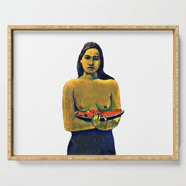 Gauguin Deux Tahitiennes Serving Tray