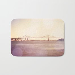 Greater New Orleans Bridge over the Mississippi Bath Mat