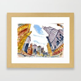 Building High River Deep Framed Art Print