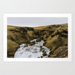 South Iceland Skogafoss river landscape photography. Travel photo-art Art Print