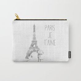 Paris Je T'aime (I Love You) T Shirt, Hand Drawn Sketch Carry-All Pouch