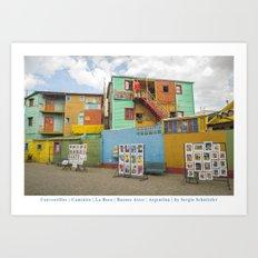 Conventillos in Caminito, Buenos Aires Art Print