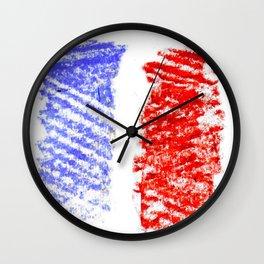 Flag of France 13- France, Français,française, French,romantic,love,gastronomy Wall Clock