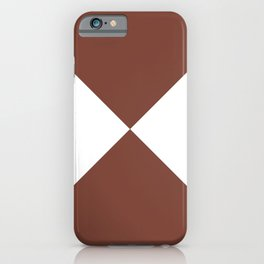 Four Triangles (White & Maroon Pattern) iPhone Case