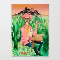 rio de janeiro Canvas Prints featuring Rio de Janeiro by Kate Raq