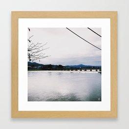 Arashiyama Togetsu-kyo Bridge - Kyoto Japan Framed Art Print