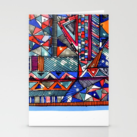 Tribal Texture Stationery Cards