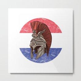 Netherlands Dutch Spartan  TShirt Warrior Shirt Flag Gift Idea Metal Print