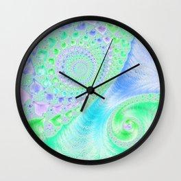 Lavender Spiral Fractal Wall Clock