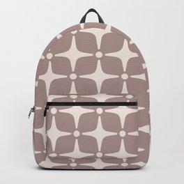 Mid Century Modern Star Pattern Beige 2 Backpack