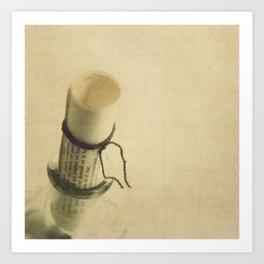 Mensaje en una botella Art Print