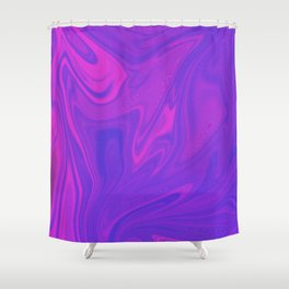 Holographic background in neon colors. Background with neon metallic gradient hologram. Shower Curtain