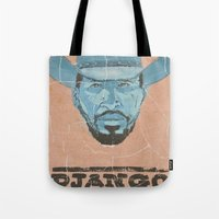 django Tote Bags featuring Django by kjell