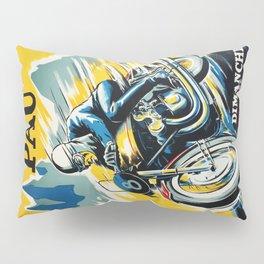 Grand Prix de Pau, Race poster, vintage motorcycle poster, retro poster, Pillow Sham