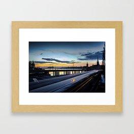 Stockholm Night - Slussen Framed Art Print