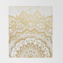 GOLD ORION JEWEL MANDALA Throw Blanket