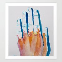 The Hand Touch Art Print