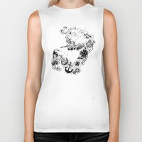 gym Biker Tanks featuring Gym Rat by Textures