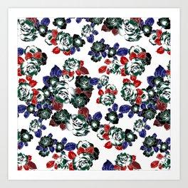 Cool Floral texture Art Print