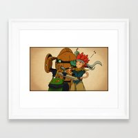 chrono trigger Framed Art Prints featuring Chrono Trigger Tribute  by poizeh