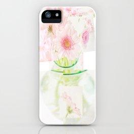 Collage Love - Inspired by David Hockney - Pink Gerberas  iPhone Case