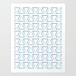 Peaks - Purple & Blue #238 Art Print