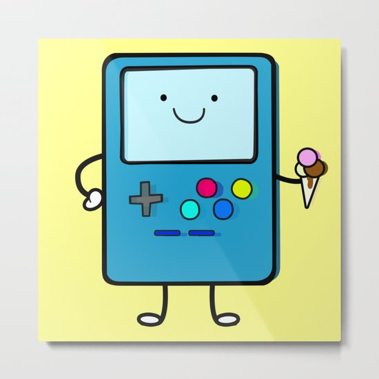 Ice cream lover video game Metal Print
