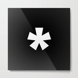 Asterisk (White & Black) Metal Print
