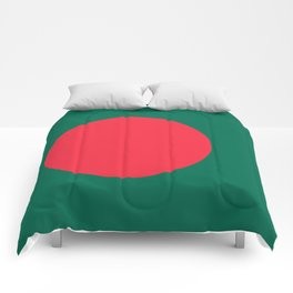 Flag of Bangladesh, Authentic color & scale Comforters