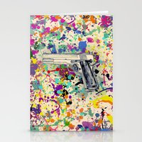 gun Stationery Cards featuring Gun by Maressa Andrioli