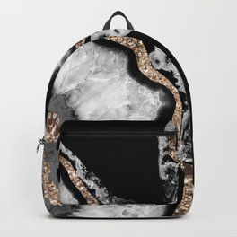 Yin Yang Agate Glitter Glam #8 #gem #decor #art #society6 Backpack