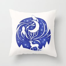 Spirits of the Night Throw Pillow