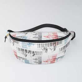 A piano pattern in black/red/blue Fanny Pack