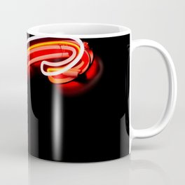 Vintage Red and White Neon Superdawg S Squiggle Chicago Illinois Coffee Mug