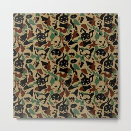 Chihuahua Camouflage Metal Print