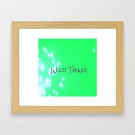 Lime Wild Thing Framed Art Print
