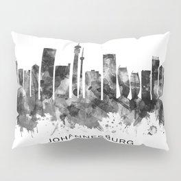 Johannesburg South Africa Skyline BW Pillow Sham