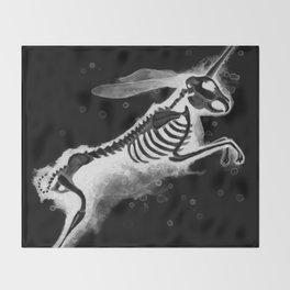 Unicorn Bunny - inverted Throw Blanket