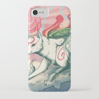 okami iPhone & iPod Cases featuring Okami Amaterasu by Owlapin