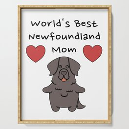 World's Best Newfoundland Mom   Cute Dog Mother Design Serving Tray